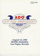 AMERICAN DARTS ASSOCIATION 10th ANNIVERSARY HISTORY BOOKLET