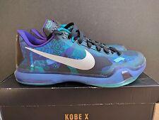 """Nike Air Zoom Kobe X 10 """"Emerald Glow"""" """"Overcome"""" Basketball Shoes Sz 12 max"""