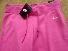 Womens Nike Classic Cuffed Fleece Pants Bottoms Small Gym Fitness Pink RRP£39.99