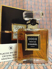 Vintage 1980s Chanel COCO 1/4 oz 7.5 ml Pure Parfum CRYSTAL Bottle FIRST FORMULA
