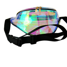 Fashion Punk Lady Girl Rainbow Transparent Fanny Pack Bum Women Purse Waist Bag
