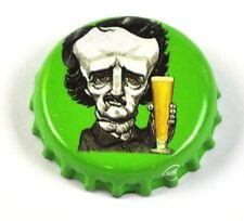 Raven Beer Bier Edgar Allan Poe Tapa de Botella EE.UU. Soda botella Cap verde