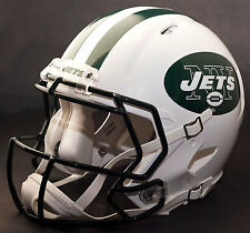 ***CUSTOM*** NEW YORK JETS NFL Riddell Full Size SPEED Football Helmet