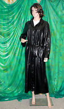 Mandy Marsh sexy Ladie's black PVC rain coat snake skinn pattern UK 12