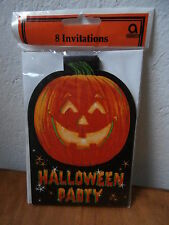 *** 8 inviti per la festa di HALLOWEEN invitations cards party zucca zucche  ***