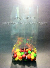 1000 Pcs 4x2x12 Clear Side Gusseted Poly Cello Bags Good for Candy Cookie Bakery