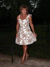ROBBIE BEE Floral Rockabilly Swing Dress 16 Crossdresser Transgender CD TV TS