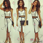 Womens Bodycon Slimming Bandage Two Piece Crop Top and Skirt UK Dress Ladies Set