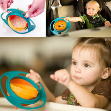 Children Kid Baby Universal 360 Degree Rotate Spill-Proof Gyro Bowl Dishes New