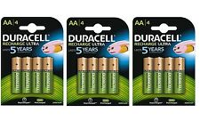 12x Duracell AA 2500mAh PRE/STAY CHARGED Rechargeable Battery NiMH 5000394057043