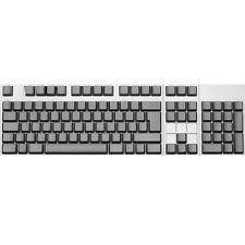 Max Keyboard ISO 105-key Cherry MX Replacement Keycap Set 6.0x (Grey / Blank)