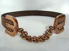 vintage Renoir Copper Basketweave Belt