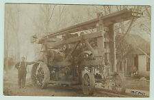 RARE RPPC - Unusual Steam Engine Well Drilling? Machine Tractor 1910