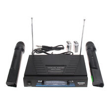 2pcs Wireless Microphone System Dual Mic Handheld Cordless Receiver Karaoke Sing