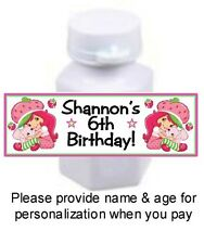 30 Strawberry Shortcake Birthday Party Baby Shower Mini Bubbles Bottle Stickers