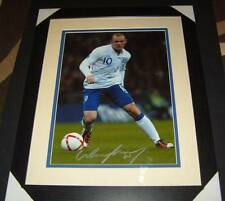 Wayne Rooney England Man Utd Legend signed framed photo 20x16 inches AFTAL EPS