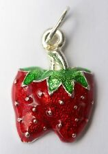 New!! Lot of 6 Charm Pieces!! Juicy Red Ripe Strawberry Fruit Strawberries DIY