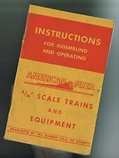 "1947 American Flyer AC Gilbert 3/16"" S Scale RED COVER Instruction Book M2502"