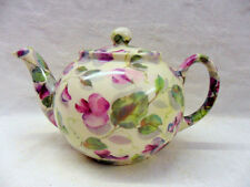 purple sweet pea design 2 cup teapot by Heron Cross Pottery