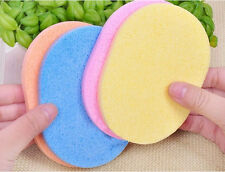 2 Pcs Comfortable Natural Compressed Facial Cleaning Sponge Puff Face clean Pads