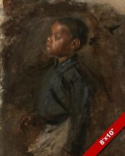 NEGRO BLACK BOY DANCING THOMAS EAKINS ARTIST PAINTING ART REAL CANVAS PRINT