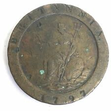 Antique George III 1797 Copper Cartwheel Two Penny Coin Two Pence