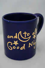 "Eddie Bauer Home Christmas Coffee Mug Cup ""And To All A Good Night"" Blue"