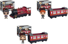 Funko HARRY POTTER POP RIDES 3PC TRAIN SET - with RON & HERMIONE DOUBLE BOXED!!