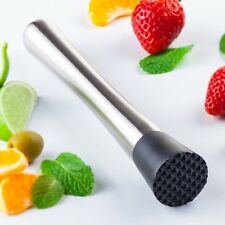 Stainless Steel Cocktail Muddler Mixer Drink Bar Pestle Stirrer Mojitos Mixology