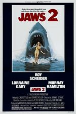 Jaws 2 Roy Scheider horror movie poster print