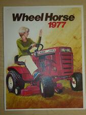 VINTAGE 1977 WHEEL HORSE TRACTORS SALES BROCHURE, A- B- C- & D-SERIES, ELEC-TRAK