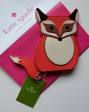 Kate Spade PURSE / WALLET Orange Leather MR FOX COIN PURSE