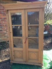 Antique Vintage Pine Cabinet Linen Cupboard Bookcase - Offers Considered
