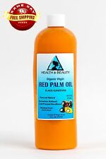 "PALM OIL ""RED"" EXTRA VIRGIN UNREFINED ORGANIC CARRIER COLD PRESSED PURE 16 OZ"
