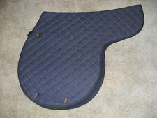 NEW-  BLUE DENIM QUILTED ALL PURPOSE SHAPED ENGLISH SADDLE PAD