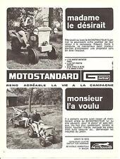 PUBLICITE POUR LES TRACTEURS MOTO STANDARD DE 1966  Advertising
