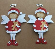2 Cottage Cutz  Christmas Fairies - Christmas Card Toppers