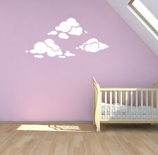 Wall Sticker Cloud White Color Removable Vinyl Art Decal Home Decoration Mural