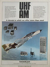 4/80 PUB TADIRAN MANPACK RADIO UHF AM ARC-240 F-4 PHANTOM PRC-660T ORIGINAL AD