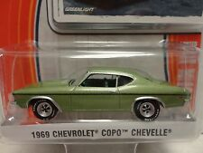 Greenlight 1969 CHEVY COPO CHEVELLE Green '69 w/RR Real Rubber Tires GL MUSCLE