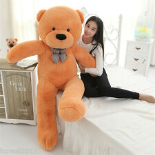 hot!220cm NEW GIANT HUGE SOFT 100% COTTON TOY light brown TEDDY BEAR