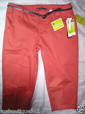 LEE natural fit women's orange capri pants SIZE 4P new nwt