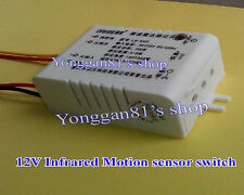 Hot 12V Infrared Body Motion PIR Sensing Switch Microwave Radar Sensor Switch