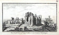 WALES COITY CASTLE GAMORGAN Original Antique Copper Engraved Print c1770
