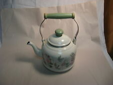 Vintage Decorative Enamel Tea Kettle
