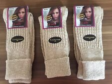 """3  PAIRS LADIES LONG  QUALITY CHUNKY THERMAL SOCKS HIKE BOOT SOCKS  PLYH"