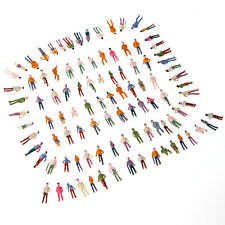 New 100pcs OO Scale Painted Model Park Street Passenger People (1:75)
