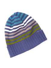 New MISSONI Men's Knit Wool Beanie Hat FREE US Ship *Made in ITALY* Intarsia