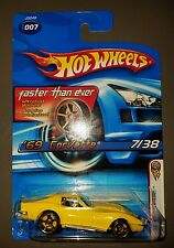 2006 hot wheels first editions faster than ever yellow '69 corvette zl-1.
