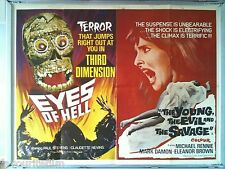 Cinema Poster: EYES OF HELL/THE YOUNG, THE EVIL AND THE SAVAGE 1968 (QUAD)